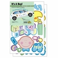 It's a Baby Boy Car Magnet Set