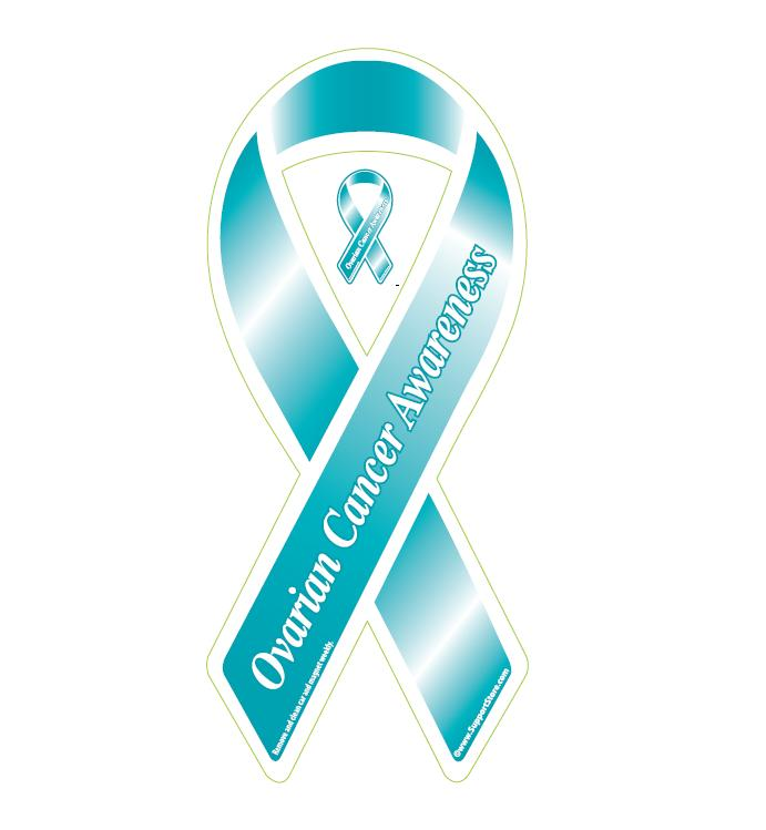 Ovarian Cancer Ovarian Cancer Awareness Ovarian Cancer Magnet - Custom awareness car magnet
