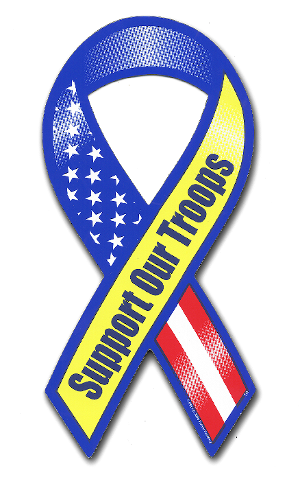 military bumper stickers - military ribbons - military emblems