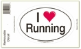I Love Running  Bumper Sticker Decal