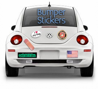 Bumper Stickers Car Decals European Oval Stickers