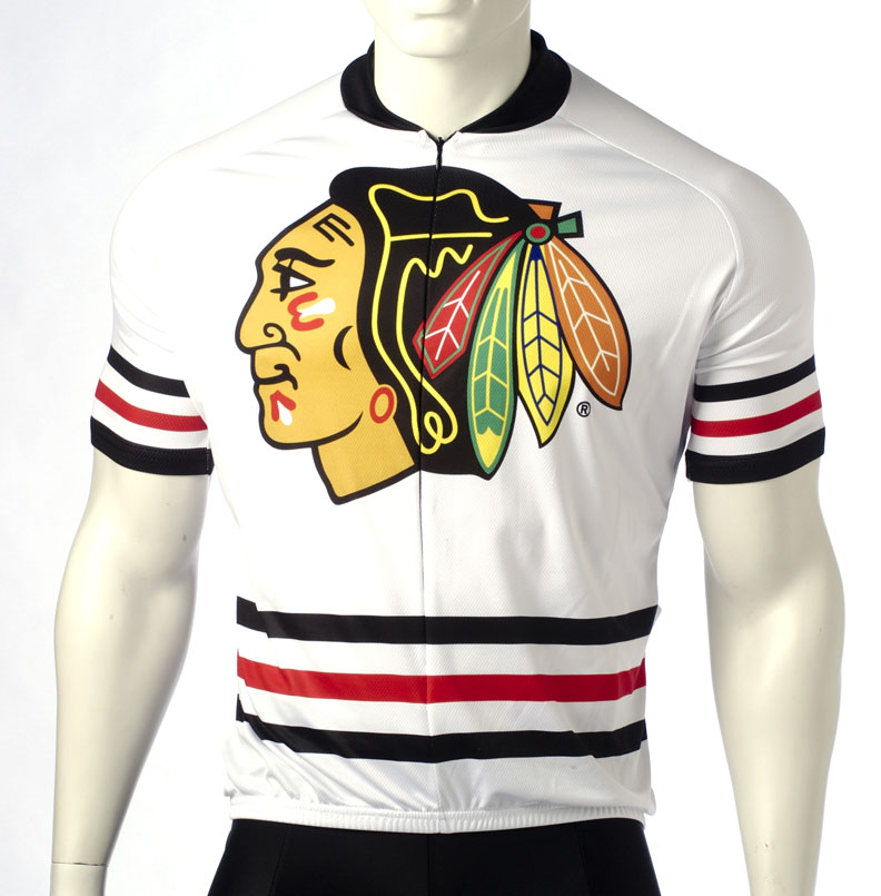 finest selection 7d010 16b66 Chicago Blackhawks Cycling Jersey Free Shipping