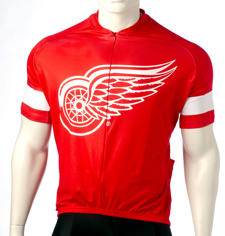 half off 5aaff 8d440 Detroit Red Wings Cycling Jersey Free Shipping