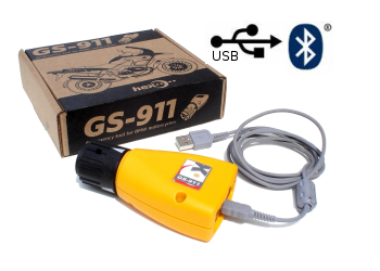 GS 911 BMW Computer Fault Code Reader: Enthusiast Version with Bluetooth & USB Capabilities