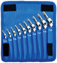 Star-Pro Pivot Head Torx/Star Wrench Set (10 Piece Set)