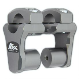 "ROX Handle Bar Adjustable / Pivoting Risers for 1 1/8"" by 1 1/8"" (28mm) Handle Bars, 2 inch Rise"