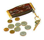 Coin Case Key Ring - Eelskin