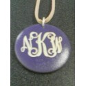 Purple Wood Pendant