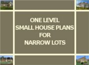 ONE STORY HOUSE PLANS FOR NARROW LOTS