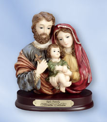 Holy Family with Cross Florentine Bust (5 inch)