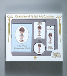 Precious Moments First Communion Presentation Set Boy