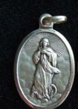 Oval Oxidized Medal The Assumption