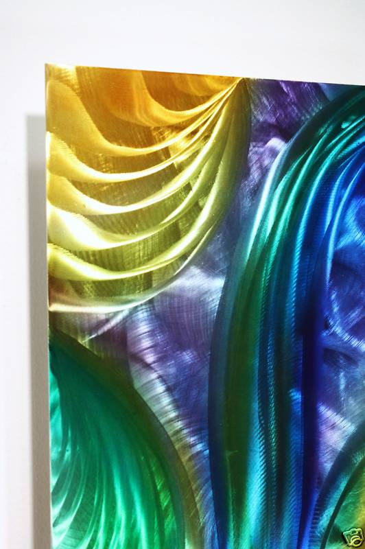 Abstract Swirl Painting On Metal Wall Decor Art Sculpture Design By Wilmos Kovacs W143