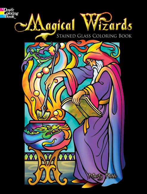 LG Stained Glass Coloring Book: Magical Wizards
