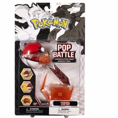 Tepig - Pokemon Pop 'n Battle Launcher With Attack Target Black and White Series #1