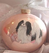 Japanese Chin Hand Painted Christmas Ornament