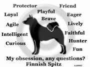 Finnish Spitz Obsession Long Sleeve T-Shirt