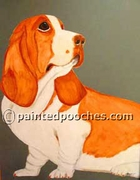 Basset Hound Original Art T-Shirt