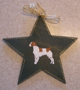 Hand Painted Brittany Window Star/Tree Topper