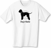 Bedlington T-shirt Personalized with Dog's Name
