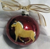 Norwegian Fjord Hand Painted Christmas Ornament