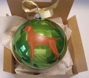 Vizsla Hand Painted Christmas Ornament