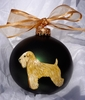 Soft Coated Wheaten Terrier Hand Painted Christmas Ornament