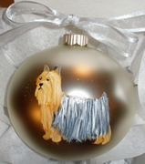Silky Terrier Hand Painted Christmas Ornament