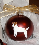 Jack Russell Terrier Hand Painted Christmas Ornament