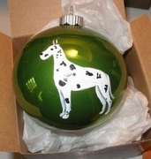 Great Dane Hand Painted Christmas Ornament