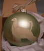 Afghan Hound Hand Painted Christmas Ornament
