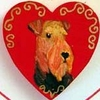 Airedale Terrier Hand Painted Pin