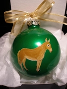Donkey Hand Painted Christmas Ornament