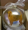 Bloodhound Hand Painted Christmas Ornament