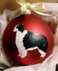 Border Collie Hand Painted Christmas Ornament