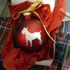 Bull Terrier Hand Painted Christmas Ornament