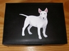 Bull Terrier Hand Painted Leather Keepsake Box