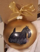 Scottish Terrier Hand Painted Christmas Ornament