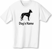 Manchester Terrier T-Shirt Personalized with Dog's Name