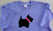 Scottish Terrier Sparkle Collar T-Shirt