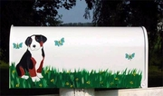 Bernese Mountain Dog Hand Painted Mail Box