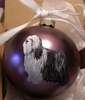 Tibetan Terrier Hand Painted Christmas Ornament