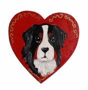 Bernese Mountain Dog Hand Painted Pin
