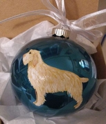 Spinone Italiano Hand Painted Christmas Ornament
