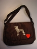 Chinese Crested Messenger Bag