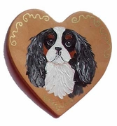 CKCS Hand Painted Heart Pin
