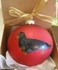 Dachshund Longhaired Hand Painted Christmas Ornament