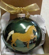 American Saddlebred Hand Painted Christmas Ornament