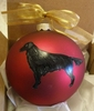 Flat-Coated Retriever Hand Painted Christmas Ornament