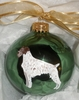 German Wirehaired Pointer Hand Painted Christmas Ornament